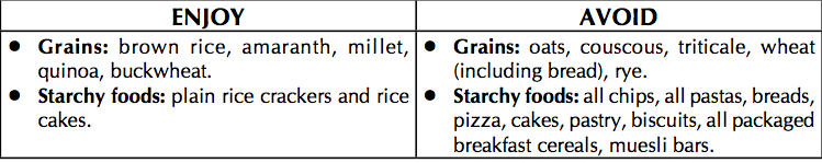 Grains and starches